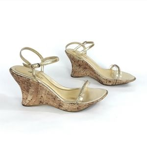 BLOSSOM COLLECTION Wedge Sandal High Heel Size 8